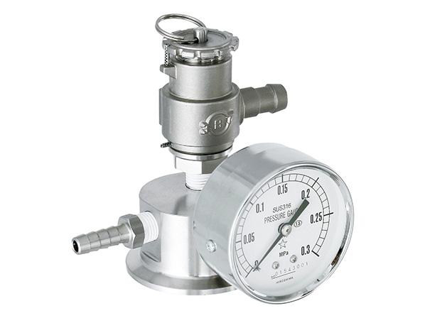 [PPS-P] pressure port, safety valve and pressure gauge